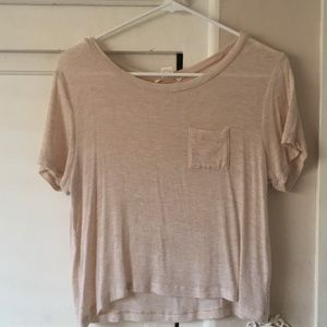 A CROPPED white t-shirt